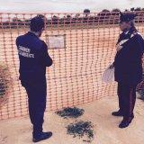 Carabinieri Noe appongono sigilli a ex campo sportivo