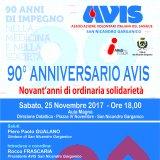 Il 25/11 il convegno per i novant'anni dell'AVIS