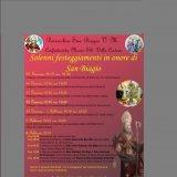 Il programma della festività in onore di San Biagio
