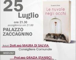 """SANNICANDRO GARGANICO, 25  luglio presentazione del libro """"Le nuvole negli occhi"""""""