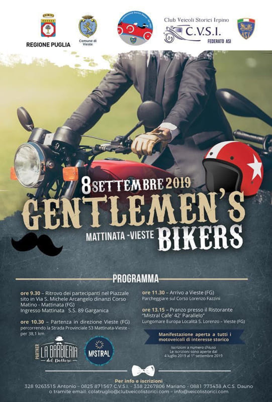 MATTINATA/VIESTE 08 SETTEMBRE : Gentlemen's bikers: