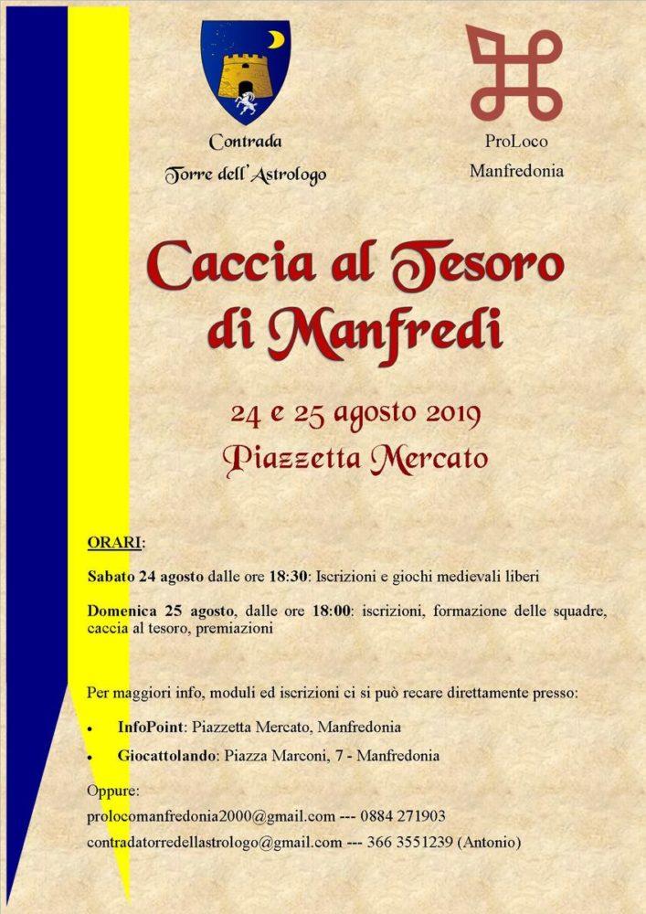 MANFREDONIA 24/25 AGOSTO – LA CACCIA AL TESORO DI MANFREDI