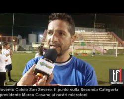 """CALCIO:VIDEO: Gioventù San Severo. Marco Casano fa il punto sulla Seconda e presenta la """"Femminile"""""""