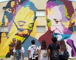 Il nuovo murale su Falcone e Borsellino a Vieste