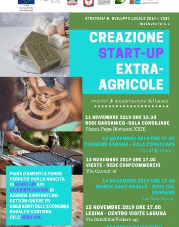 GAL GARGANO – Creazione startup extra-agricole, incontri a Rodi, Cagnano, Vieste, Monte e Lesina