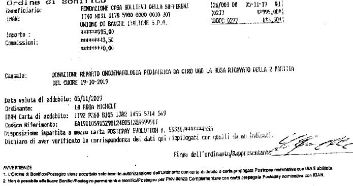 Ecco i risultati della partita del cuore di Apricena: donati 995 Euro