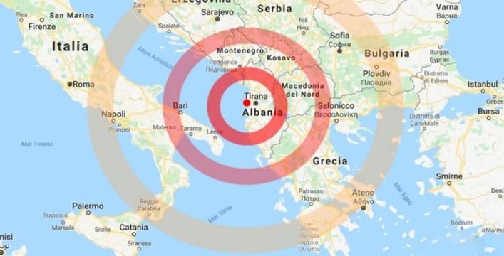 AGGIORNAMENTO ore 17:00 Si aggrava il bilancio del terremoto in Albania:almeno 22 morti e 600 feriti