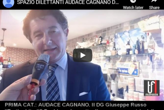 """CALCIO:CAGNANO VARANO –  VIDEO: Giuseppe Russo """"Torti arbitrali, speriamo sia solo un'impressione"""""""