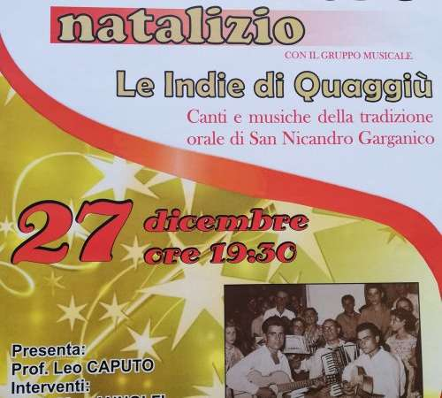 SANNICANDRO GARGANICO: Concerto natalizio al Circolo Unione