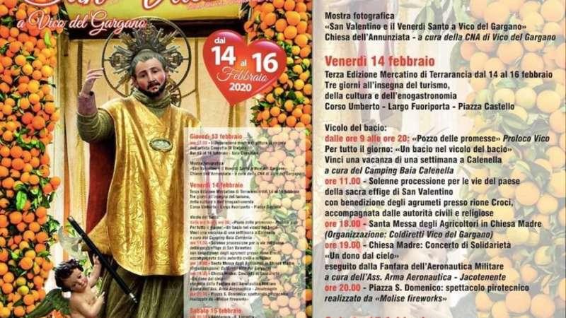 VICO DEL GARGANO – SAN VALENTINO dal 14 al 16 febbraio 2020