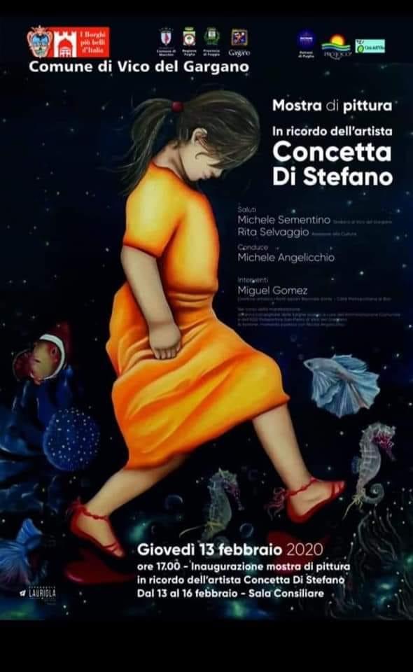 VICO DEL GARGANO: Nel programma di San Valentino, omaggio a Concetta Di Stefano con una mostra a lei dedicata