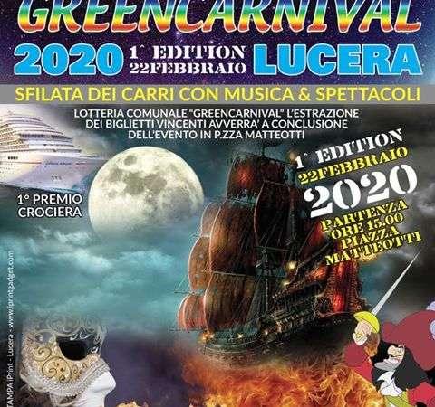 GREEN CARNIVAL LUCERA: 22 FEBBRAIO 2020